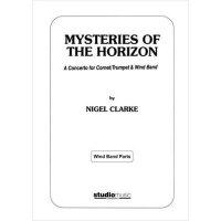 (楽譜) 地平線の神秘 / 作曲:ナイジェル・クラーク (トランペット&吹奏楽)(スコア+パート譜セット)