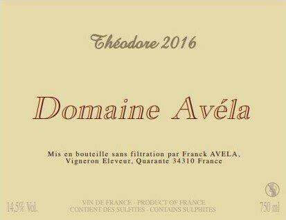 ドメーヌ・アヴェラ テオドール 2016 Domaine Avela Theodore 2016 【ケース販売】