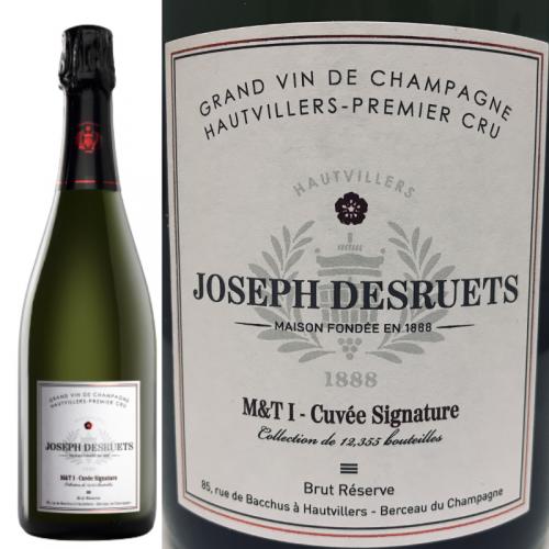 <img class='new_mark_img1' src='https://img.shop-pro.jp/img/new/icons15.gif' style='border:none;display:inline;margin:0px;padding:0px;width:auto;' />シグナチュール シャンパーニュ ジョゼフ・デズルエ プルミエ・クリュ ブリュット・レゼルヴ Champagne Desruets Premier Cru Signature Brut Reserve