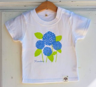 紫陽花 キッズTシャツ