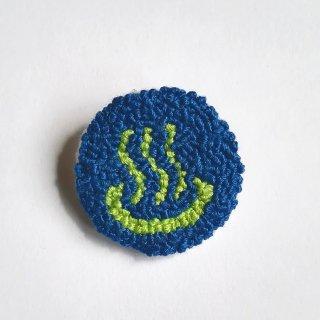温泉マークの刺繍ブローチ