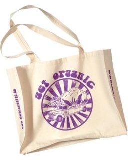【ネコポス便可】 オーガニックコットン エコバッグ 大 / Living Crafts