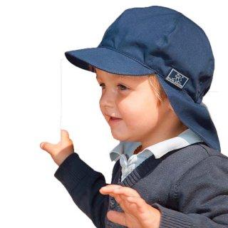【ネコポス便可】オーガニックコットン 日よけ帽子 ベビー キッズ UVカット / Felix / UPF80 ネイビー 紺 / サイズ48〜60 / Pickapooh