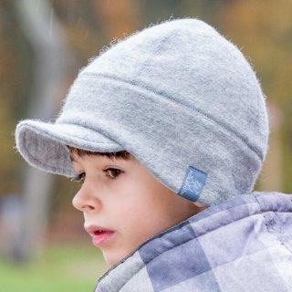 【ネコポス便可】オーガニックウール&オーガニックコットン 帽子 ベビー キッズ レディース メンズ 冬 / Oskar / グレー / サイズ50〜60 / Pickapooh