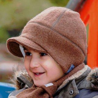 【ネコポス便可】オーガニックウール&オーガニックコットン 帽子 ベビー キッズ レディース メンズ 冬 / Oskar / ブラウン / サイズ50〜60 / Pickapooh
