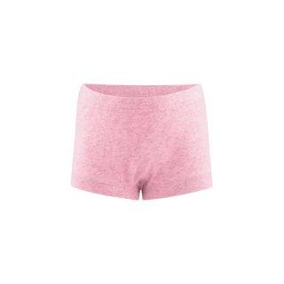【ネコポス便可】オーガニックコットン 女児ショーツ パンツ ボーイカット / ピンク / 100 110 120 130 140 150 160 / Living Crafts