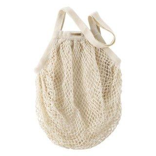 【ネコポス便可】 オーガニックコットン メッシュバッグ/ きなり / Living Crafts