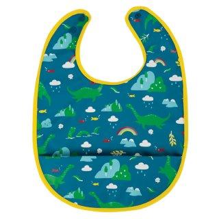 【ネコポス便可】リサイクルポリエステル お食事エプロン スタイ ビブ / ブルー / Frugi