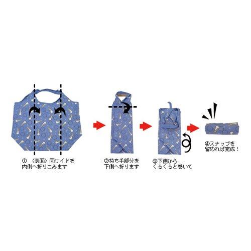 キャラコ ピーターラビット ショッピングコンパクトバッグ(ブルー) #0634