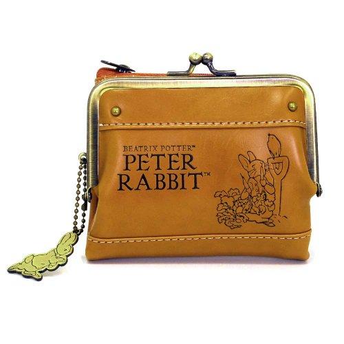 ピーターラビット がま口つき財布(キャメル)-012