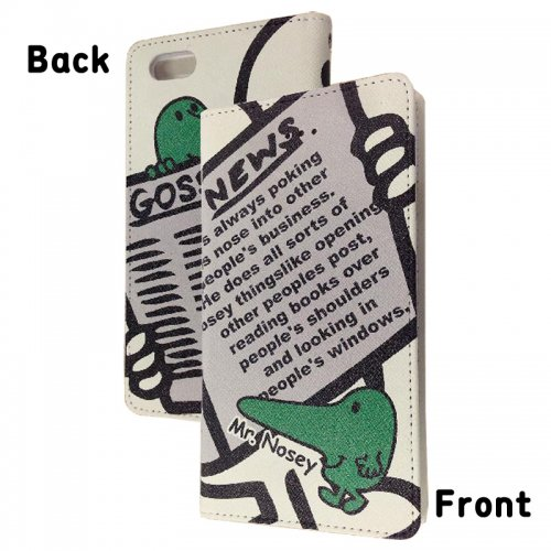 ミスターメンリトルミス iPhone6対応フリップケース(ノージー)L-51B MM