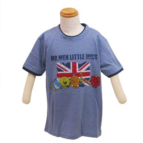 【生産終了品】ミスターメンリトルミス キッズレイヤードTシャツ(ブルー)100 642MR0031