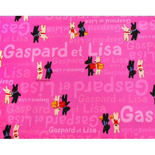 【生産終了品】リサとガスパール オックス生地(であい)ピンク G30103-1-B