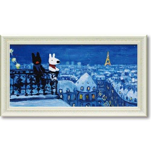 リサとガスパール ミュージアムフレーム(パリの天窓から)Lワイド GL-10055