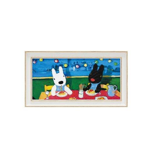 リサとガスパール ミュージアムフレーム(だいすきなスパゲッティ)Sワイド GL-03551