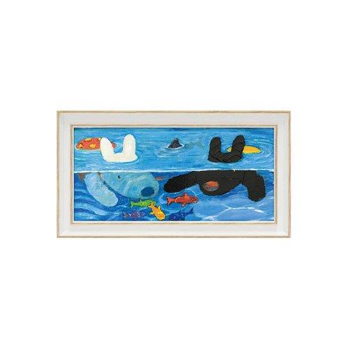 リサとガスパール ミュージアムフレーム(プールあそび)Sワイド GL-03556