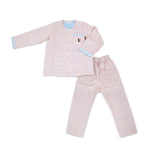 【生産終了品】リサとガスパール こども用長袖パジャマ ギンガムチェック(ピンク)130cm LIP165C3-91