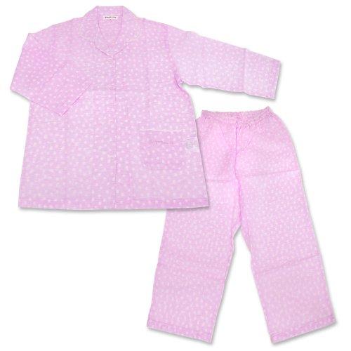 【生産終了品】リサとガスパール 前開き8分袖パジャマ 水玉(ピンク)レディースM  LIP1692-91