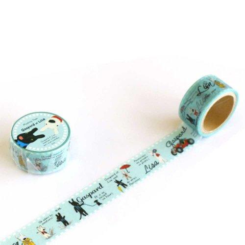 リサとガスパール マスキングテープ(クラシカル) KL000003-5