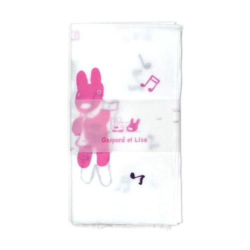 リサとガスパール 日本手拭い(楽器)パープル