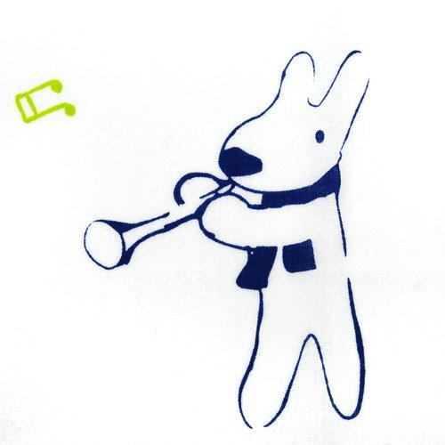 キャラコ リサとガスパール 日本手拭い(楽器)グリーン