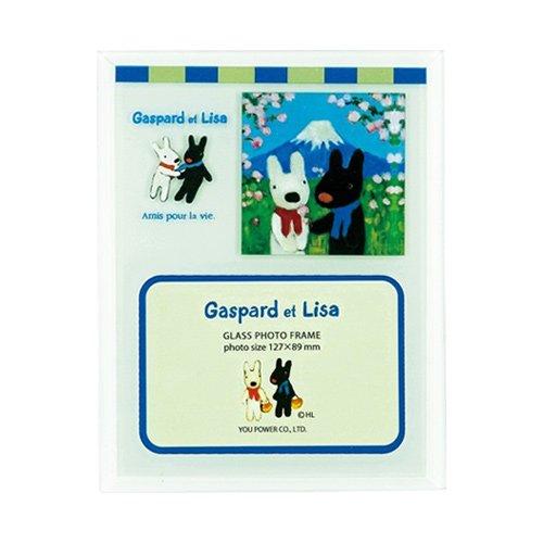 リサとガスパール ガラスフォトフレーム 1ウィンドー(にほんへいく) GL-01571