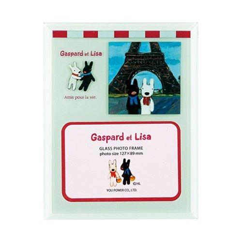 リサとガスパール ガラスフォトフレーム 1ウィンドー(エッフェル塔) GL-01572