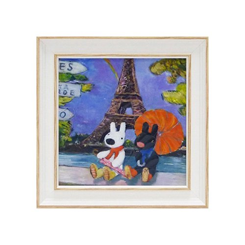 リサとガスパール アートフレームS「虹のエッフェル塔」 GL-02005