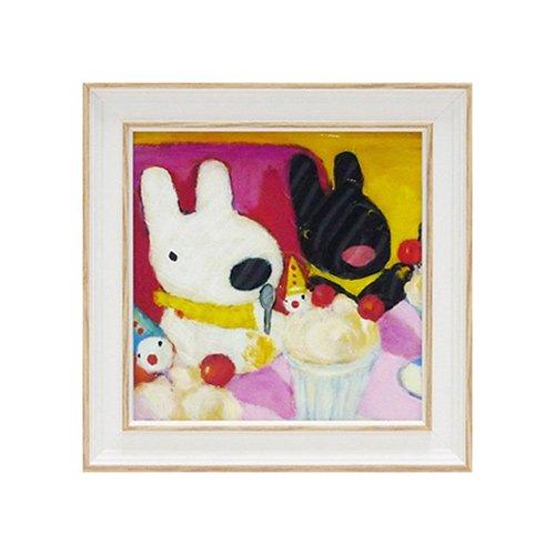 リサとガスパール アートフレームS「ピエロのパフェ」 GL-02006