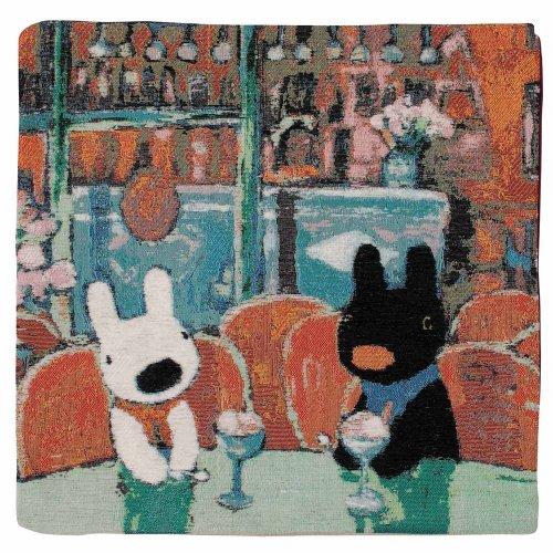 【生産終了品】リサとガスパール クッションカバー(ふたりでカフェ) 0454101500