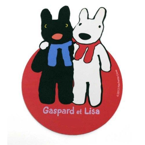 リサとガスパール ダイカットマウスパッド(肩組み)