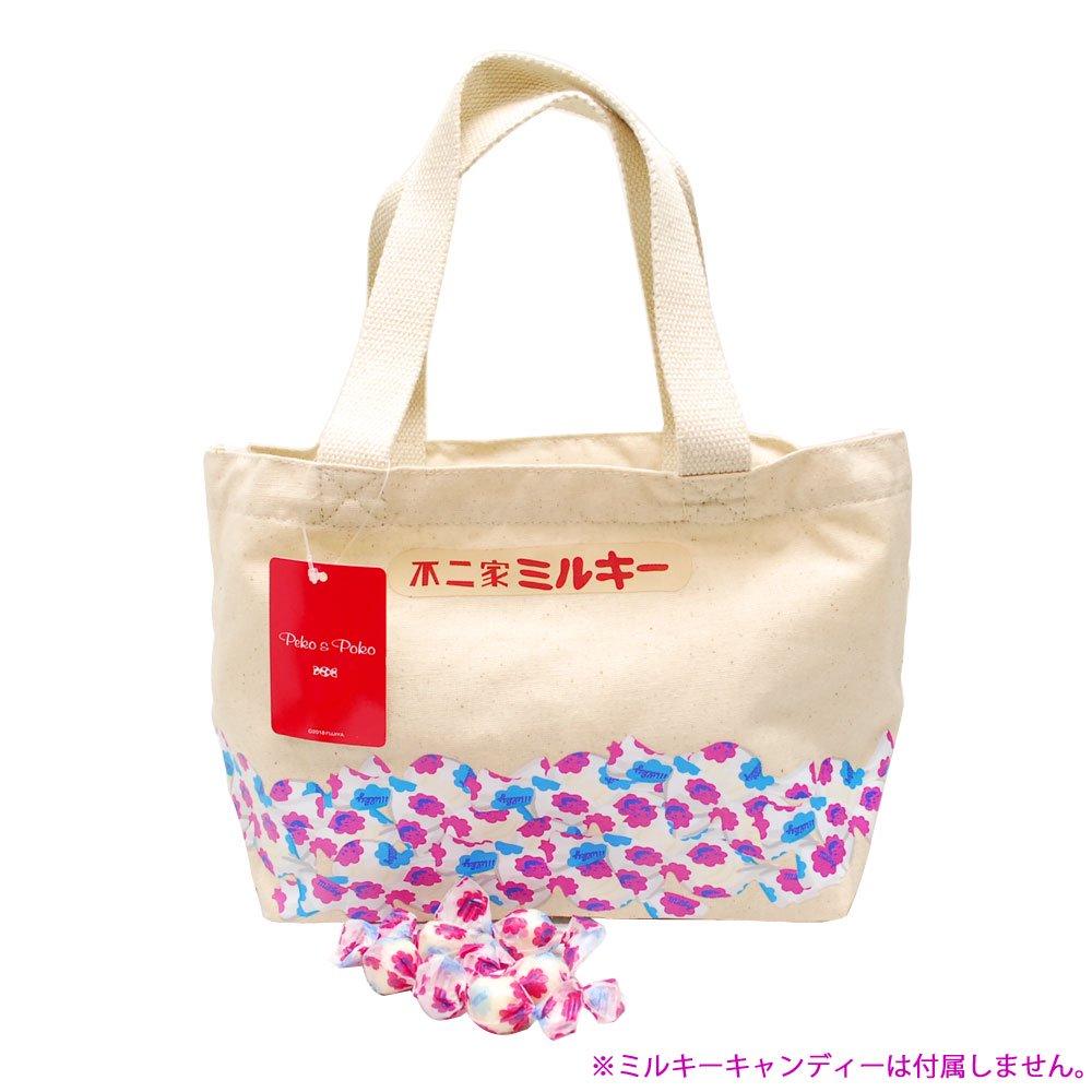キャラコ ペコちゃん ミルキー(キャンディー) ランチトート (不二家お菓子雑貨) PE-1218 PK