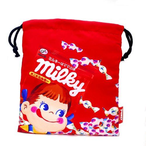 【生産終了品】ペコちゃん ミルキーA 巾着M(不二家お菓子雑貨) 026521 PK