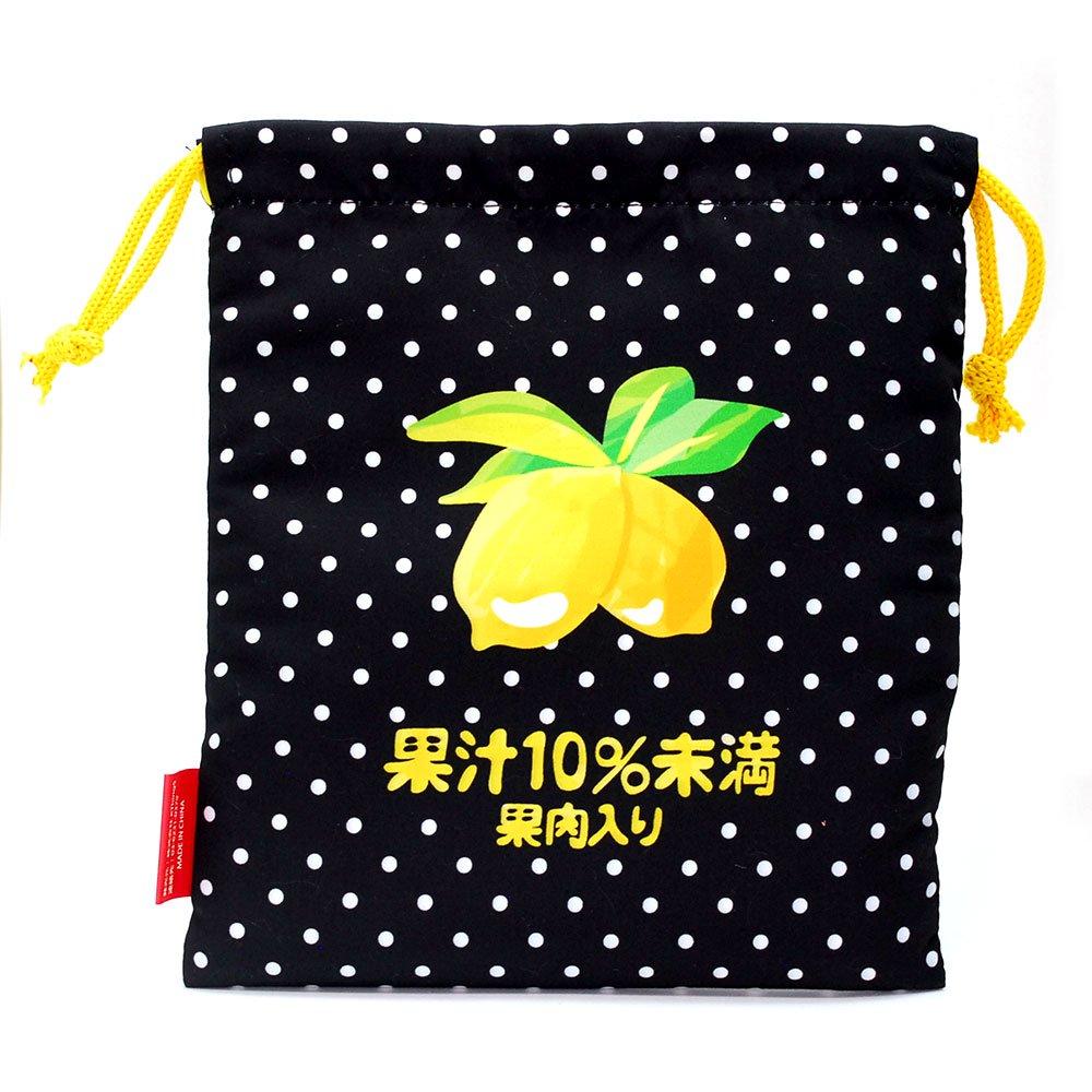キャラコ 【生産終了品】レモンスカッシュ 巾着M(不二家飲料雑貨) 026576 PK