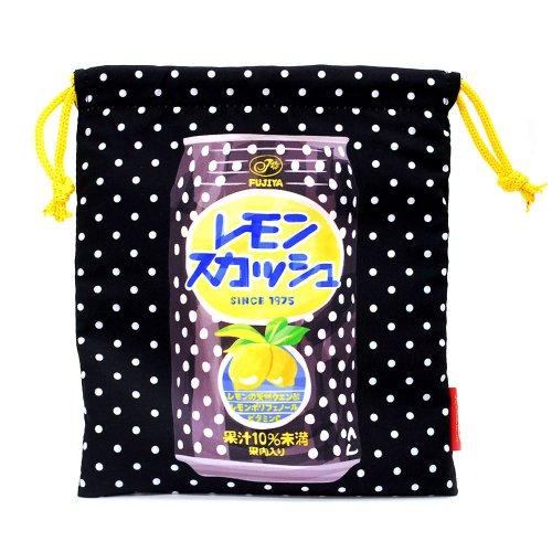 【生産終了品】レモンスカッシュ 巾着M(不二家飲料雑貨) 026576 PK