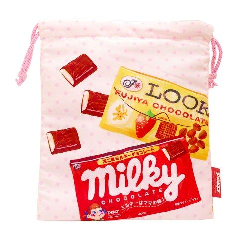 【生産終了品】ペコちゃん お菓子アソート 巾着M(不二家お菓子雑貨) 026590 PK