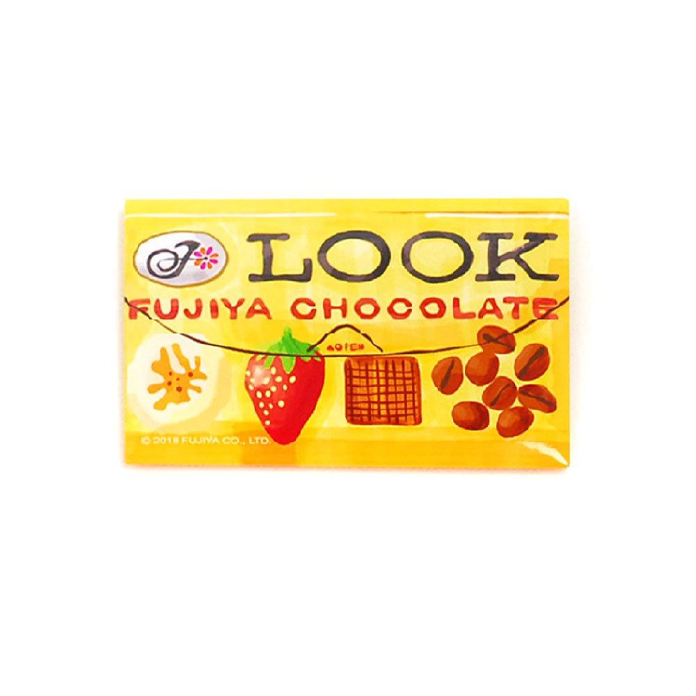 ルックチョコレート スクエア缶バッジ(不二家お菓子雑貨)PK