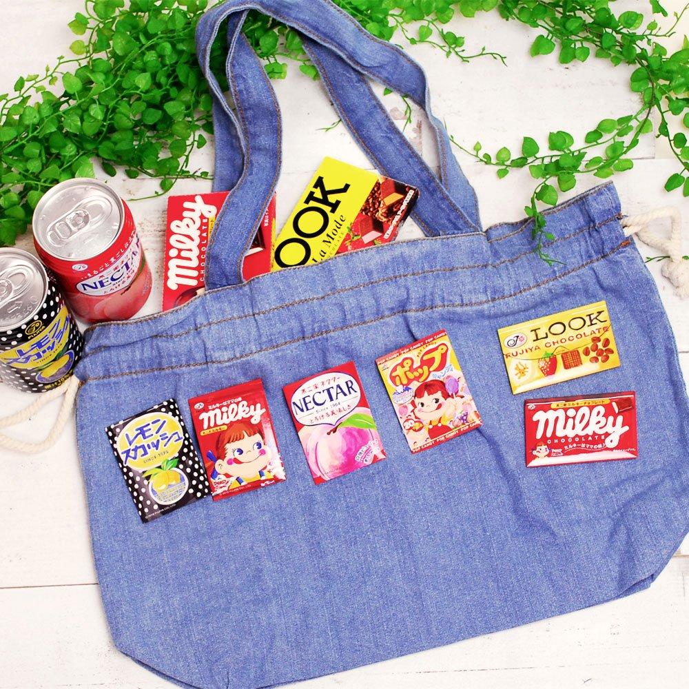 キャラコ ルックチョコレート スクエア缶バッジ(不二家お菓子雑貨)PK
