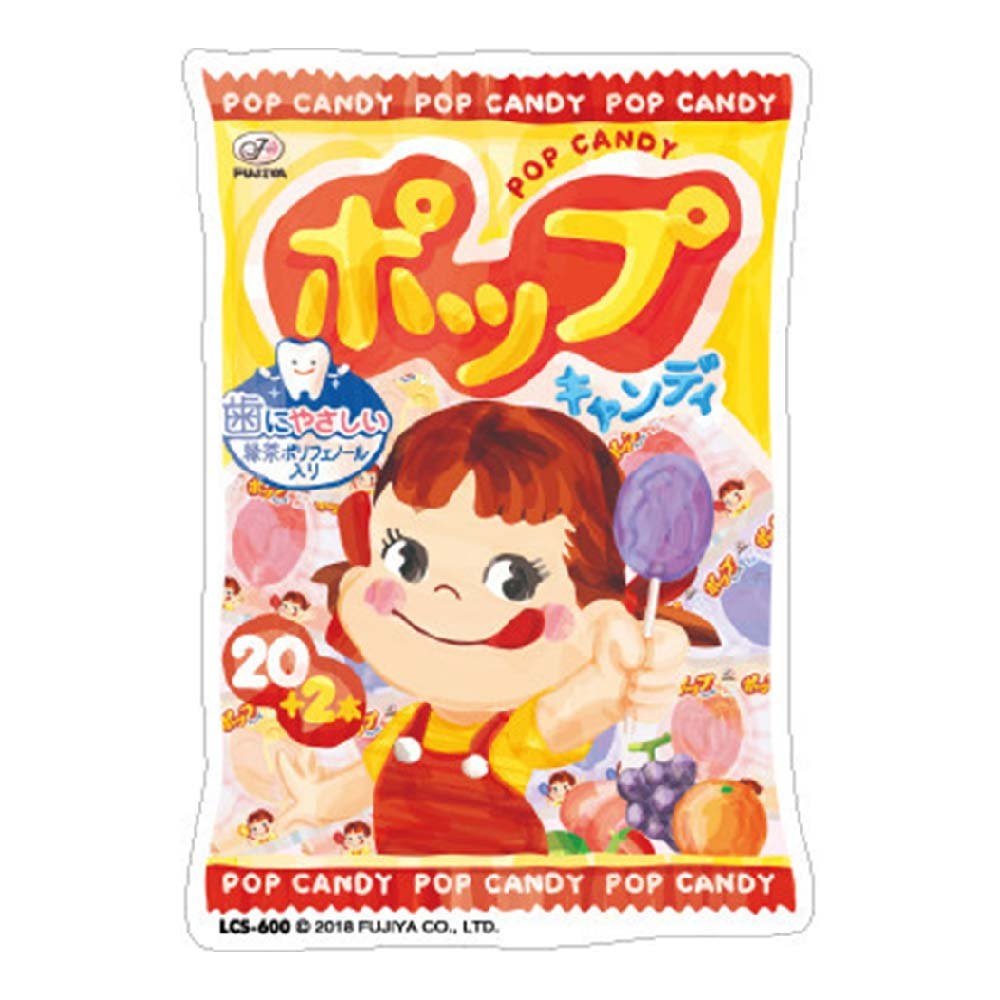 ペコちゃん ダイカットビニールステッカー 大(ポップキャンディー袋) LCS-600 (不二家お菓子雑貨) PK グッズ