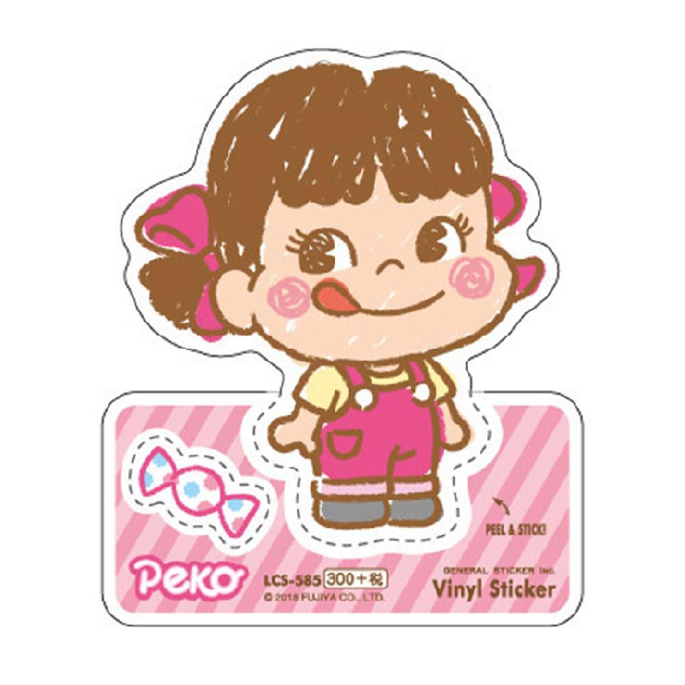 ペコちゃん ビニールステッカー(ペコ) LCS-585 (不二家お菓子雑貨) PK グッズ