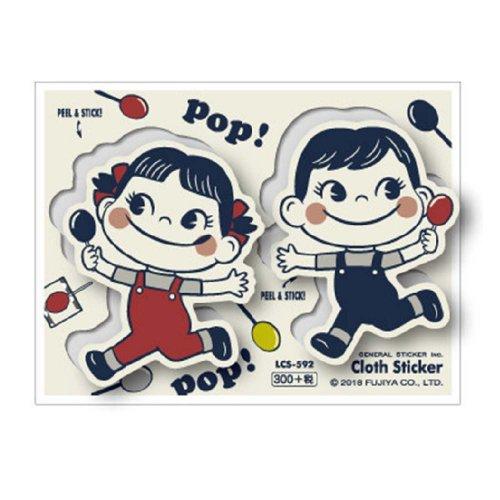 クロス素材ステッカー(ペコ&ポコ2) LCS-592 (不二家お菓子雑貨) PK