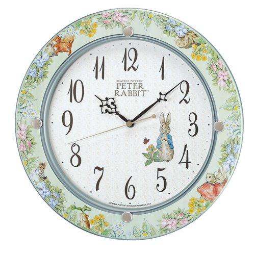 ピーターラビット 掛時計(グリーン) CL614M