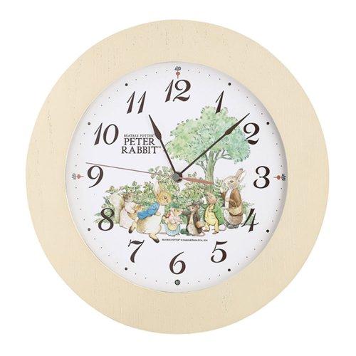 ピーターラビット 掛時計(アイボリー) CL613B