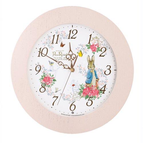 ピーターラビット 掛時計(ピンク) CL613P