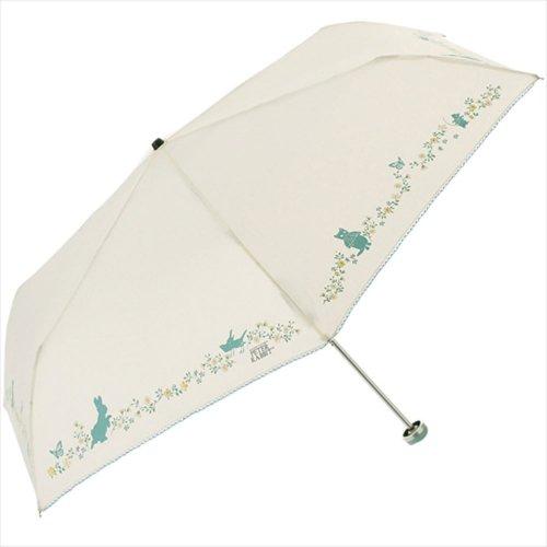 【生産終了品】ピーターラビット 折りたたみ傘(プチガーデンミニ)オフホワイト 8608