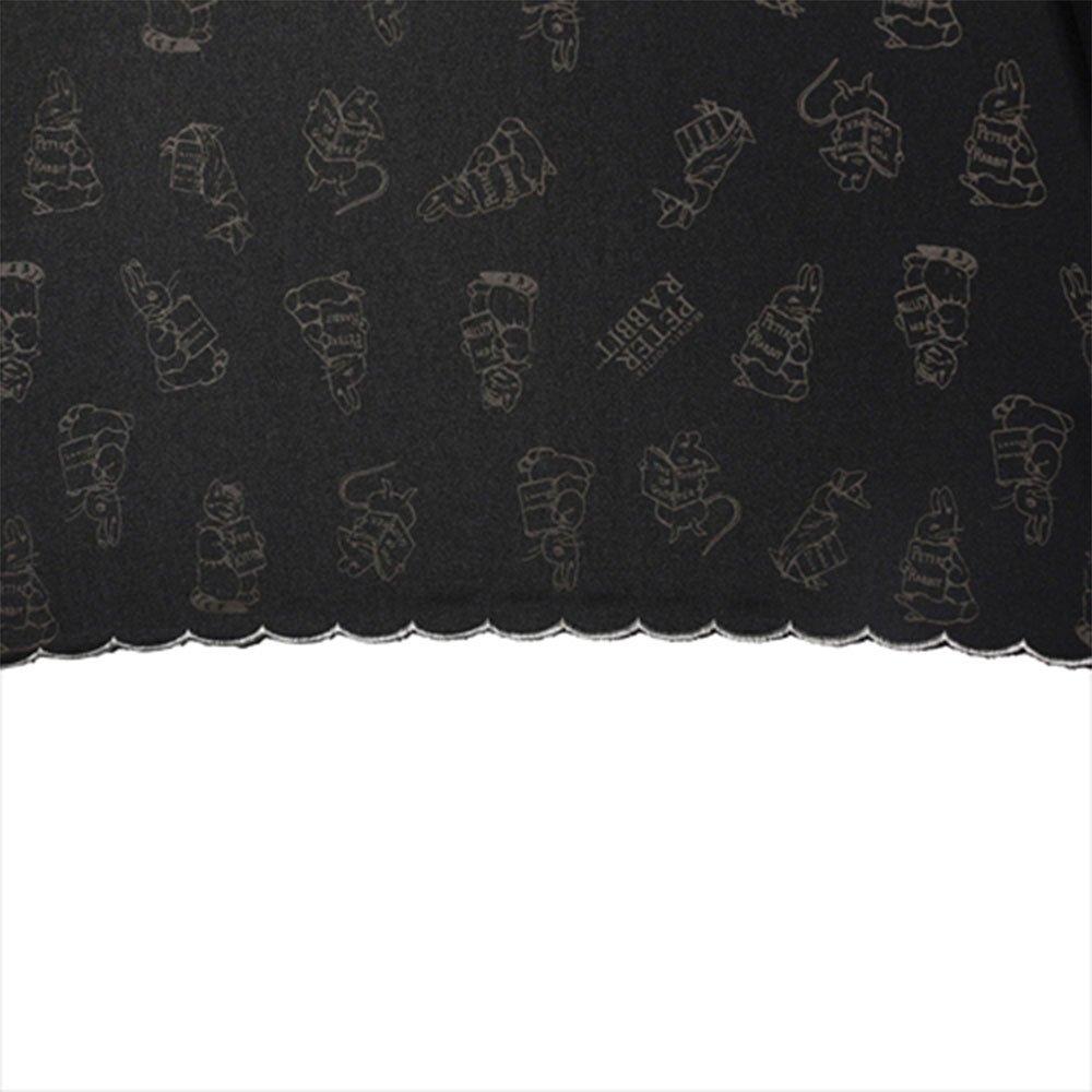 キャラコ ピーターラビット 長傘(ハイエンド)ブラック 8609