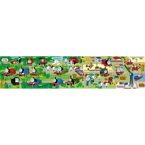 きかんしゃトーマス 【8+12+16ピース】ステップパノラマパズル きかんしゃトーマス せんろをつなげて1 24-116