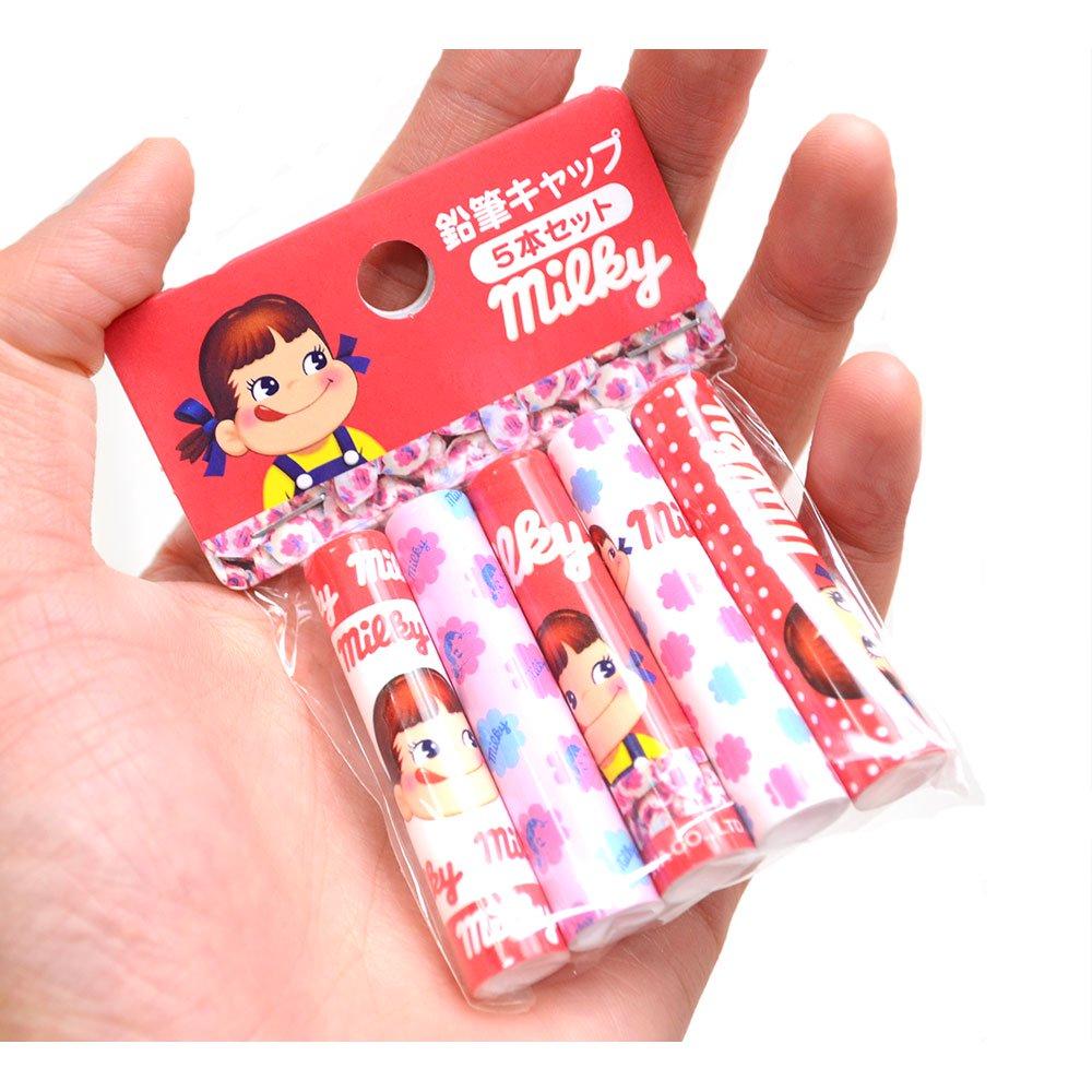 キャラコ おやつ鉛筆キャップ5本セット(ミルキー) 44801001 PK