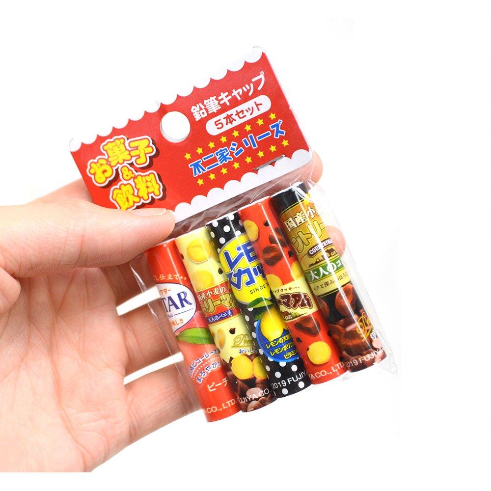 キャラコ おやつ鉛筆キャップ5本セット(不二家シリーズ) 44801101 PK