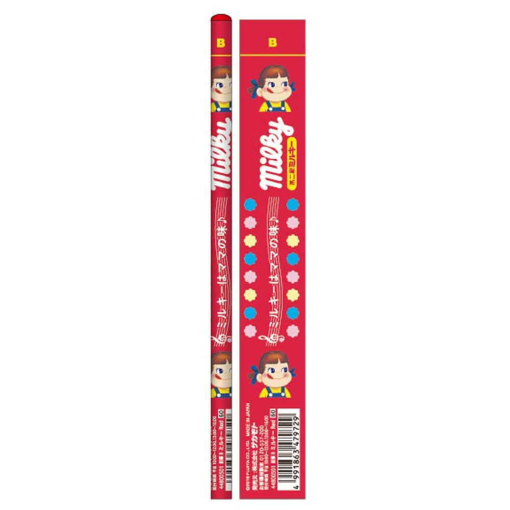 キャラコ おやつ鉛筆B 5本セット(ミルキーレッド) 44800501 PK